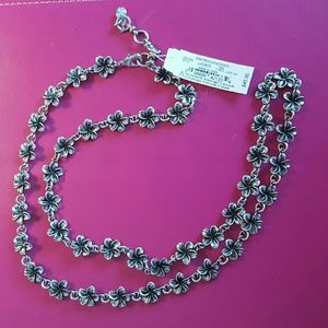 NWT Lucky Brand Silver Flower Necklace